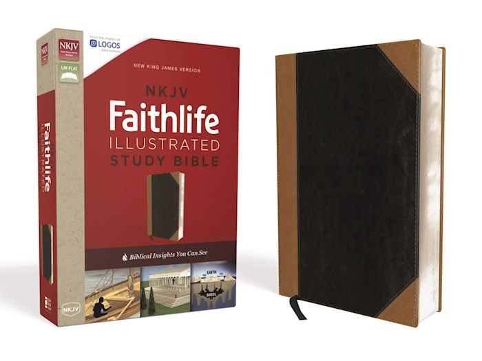 NKJV Faithlife Illustrated Study Bible-Black/Tan Leathersoft | SHOPtheWORD