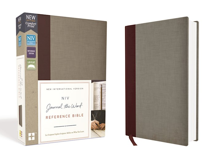 NIV Journal The Word Reference Bible-Burgundy/Gray Cloth Over Board (Not Available-Out Of Print) | SHOPtheWORD
