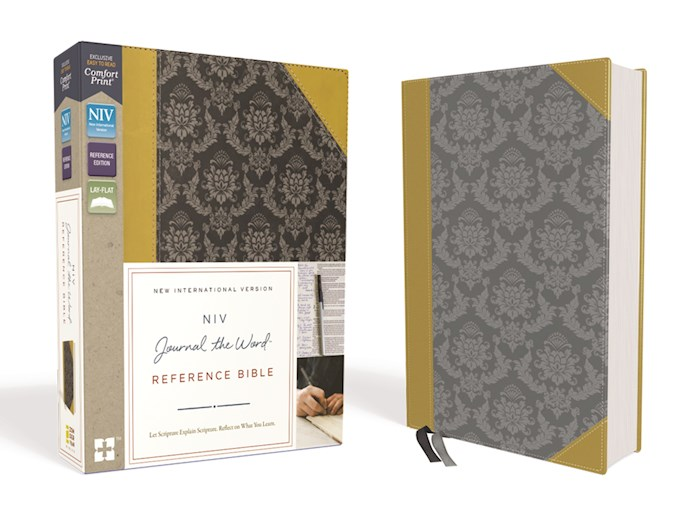 NIV Journal The Word Reference Bible-Gold/Gray Leathersoft  | SHOPtheWORD