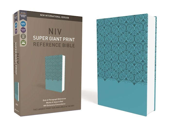 NIV Super Giant Print Reference Bible-Turquoise Leathersoft | SHOPtheWORD