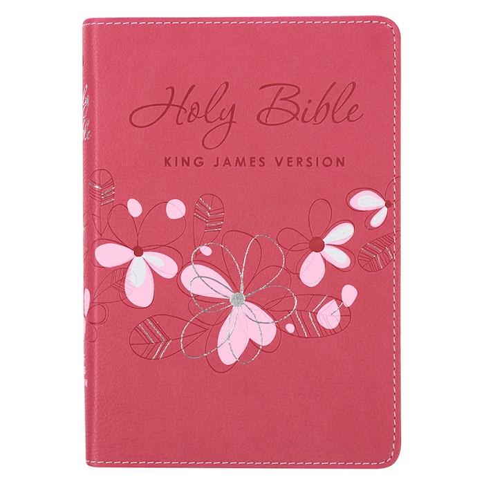 KJV Compact Bible-Pink LuxLeather | SHOPtheWORD