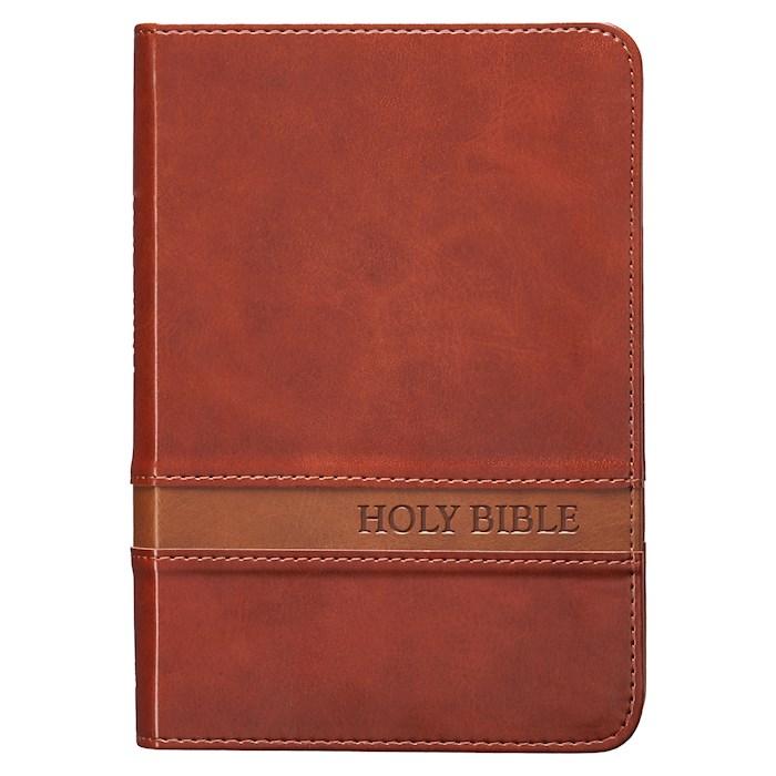 KJV Compact/Large Print Bible-Brown LuxLeather | SHOPtheWORD