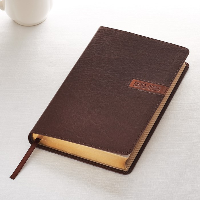 KJV Deluxe Gift Bible-Brown LuxLeather | SHOPtheWORD