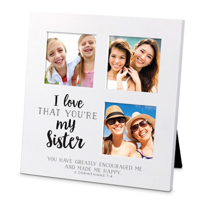 Frame-Collage-Sm-MDF-I Love That-Sister (#25724)   SHOPtheWORD