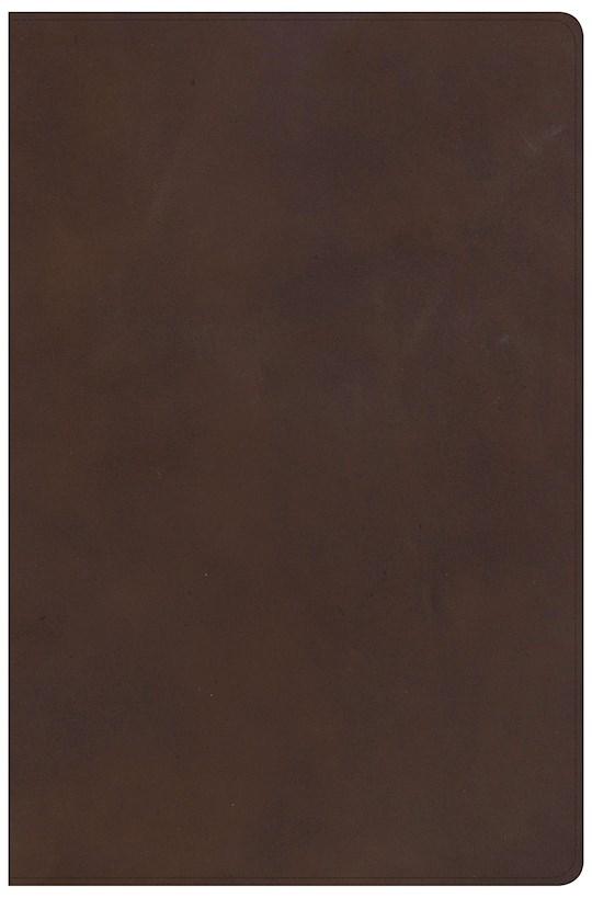 KJV Super Giant Print Reference Bible-Brown Genuine Leather | SHOPtheWORD