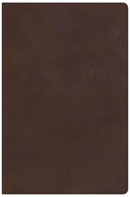 KJV Super Giant Print Reference Bible-Brown Genuine Leather Indexed | SHOPtheWORD