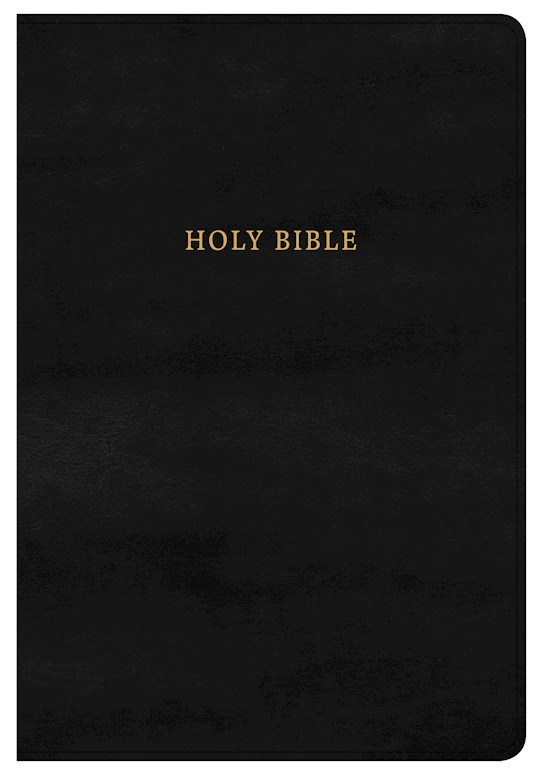 KJV Super Giant Print Reference Bible-Classic Black LeatherTouch Indexed | SHOPtheWORD