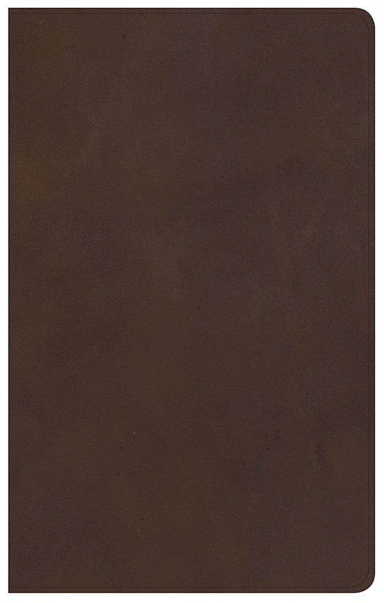 KJV Ultrathin Reference Bible-Brown Genuine Leather Indexed | SHOPtheWORD