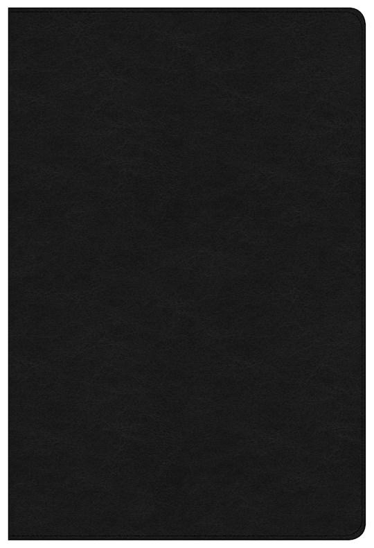 NKJV Large Print Ultrathin Reference Bible-Premium Black Genuine Leather  | SHOPtheWORD
