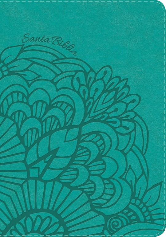 Span-RVR 1960 Large Print Compact Bible (Biblia Compacta Letra Grande)-Teal LeatherTouch    SHOPtheWORD
