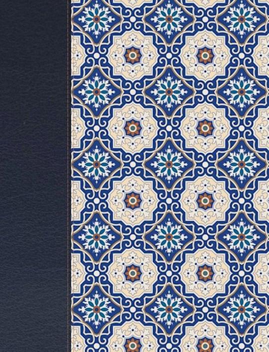 Span-RVR 1960 Large Print Notetaking Bible (Biblia de Apuntes)-Blue Pattern Cloth Over Board   SHOPtheWORD