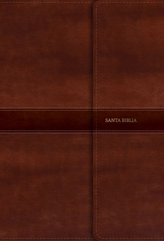 Span-RVR 1960 Giant Print Reference Bible (Biblia Letra Gigante con Referencias)-Brown LeatherTouch w/Magnet Flap Indexe | SHOPtheWORD