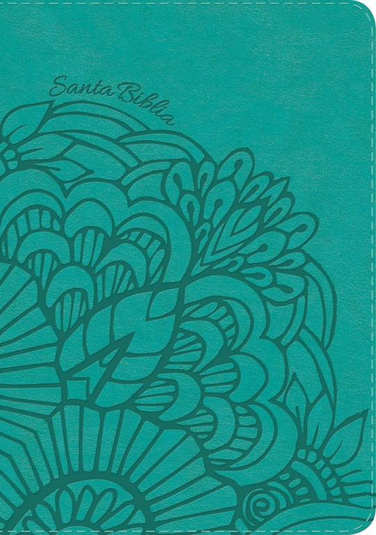 Span-RVR 1960 Hand Size Giant Print Bible (Biblia Letra Grande Tamano Manual)-Teal LeatherTouch  | SHOPtheWORD
