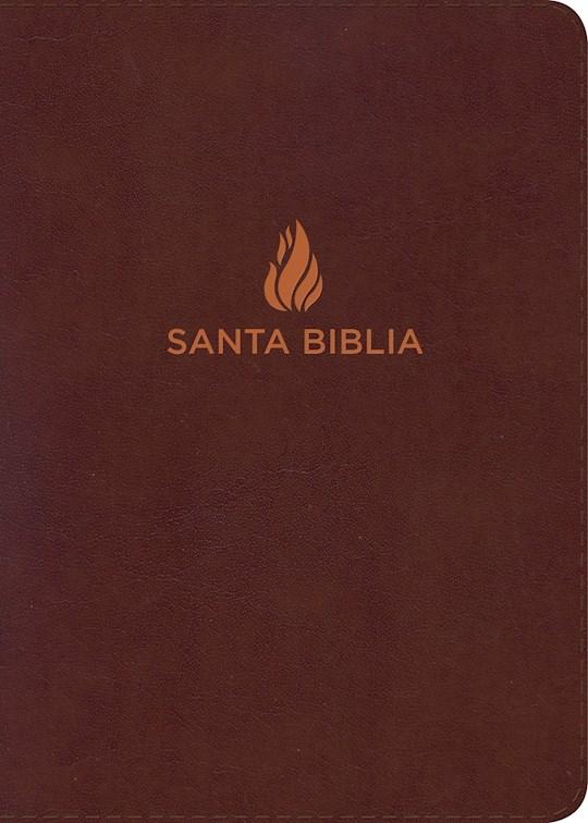 Span-RVR 1960 Hand Size Giant Print Bible (Biblia Letra Grande Tamano Manual)-Brown Bonded Leather Indexed  | SHOPtheWORD
