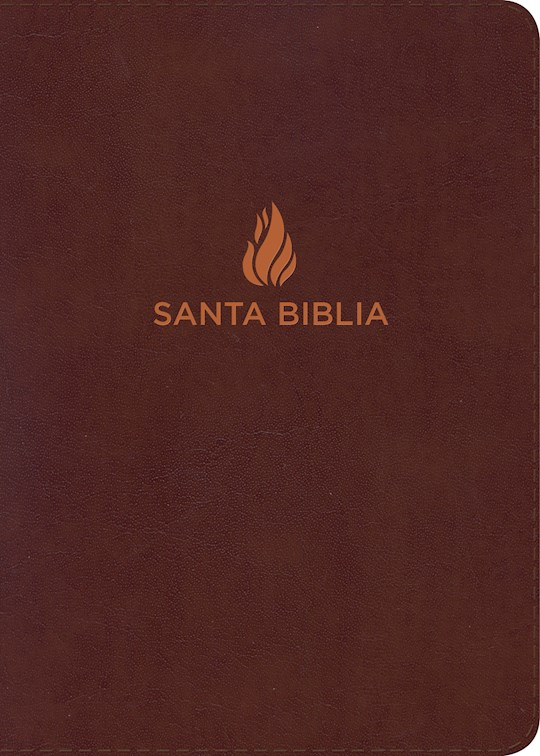 Span-RVR 1960 Hand Size Giant Print Bible-Brown Bonded Leather | SHOPtheWORD