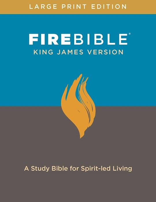 KJV Fire Bible/Large Print-Hardcover | SHOPtheWORD