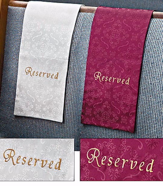 Pew Cloth-Embroidered Jacquard Reserved-Reserved-Black   SHOPtheWORD