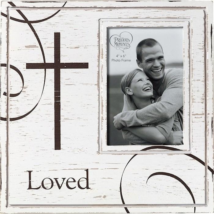 Photo Frame-Loved (Farmhouse Decor) (Holds 4 x 6 Photo) | SHOPtheWORD