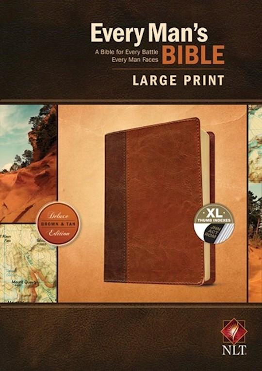 NLT Every Man's Bible/Large Print-Brown/Tan TuTone Indexed | SHOPtheWORD
