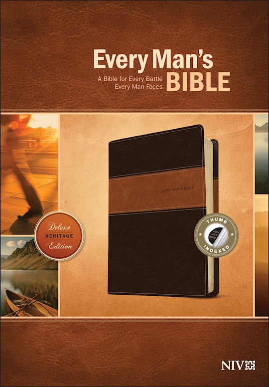 NIV Every Man's Bible-Deluxe Heritage Edition-Brown/Tan TuTone Indexed | SHOPtheWORD