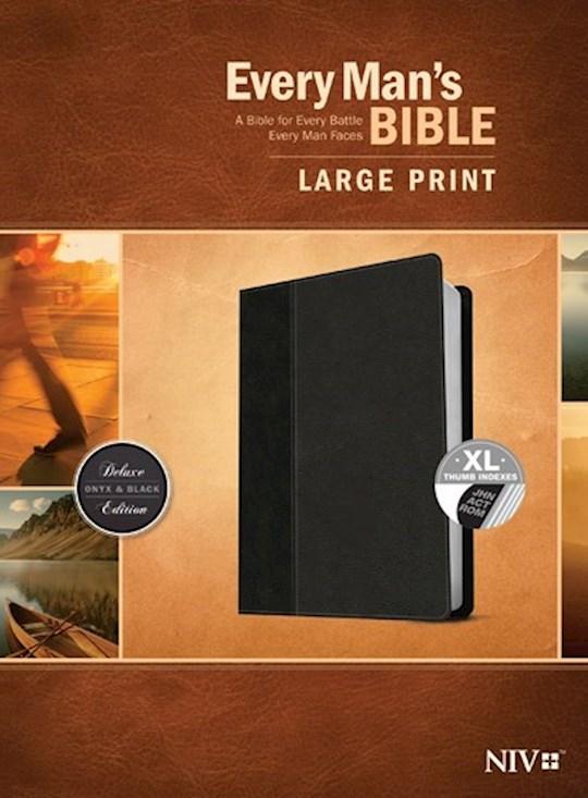 NIV Every Man's Bible/Large Print-Black/Onyx TuTone Indexed | SHOPtheWORD