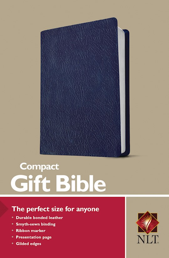 NLT Compact Gift Bible-Navy Bonded Leather | SHOPtheWORD