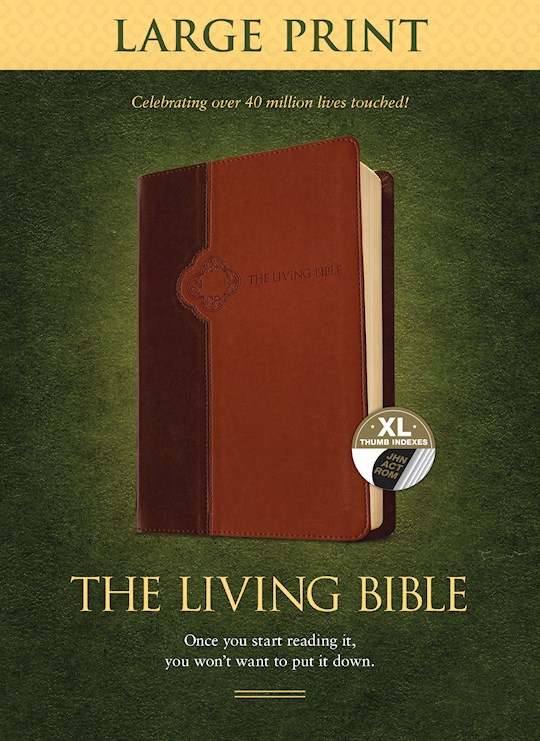 TLB The Living Bible/Large Print-Brown/Tan TuTone Indexed  | SHOPtheWORD