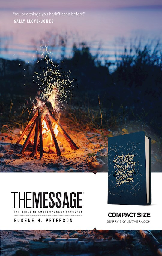 The Message Compact Bible-Navy LeatherLook | SHOPtheWORD
