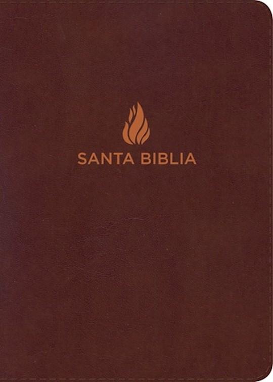 Span-NIV Hand Size Giant Print Bible (Biblia Letra Grande Tamano Manual)-Brown Bonded Leather Indexed | SHOPtheWORD