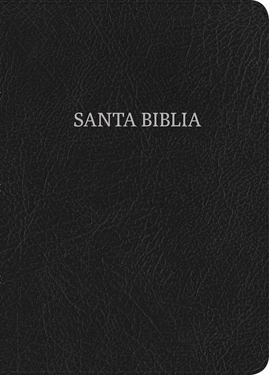 Span-NIV Hand Size Giant Print Bible (Biblia Letra Grande Tamano Manual)-Black Bonded Leather Indexed  | SHOPtheWORD
