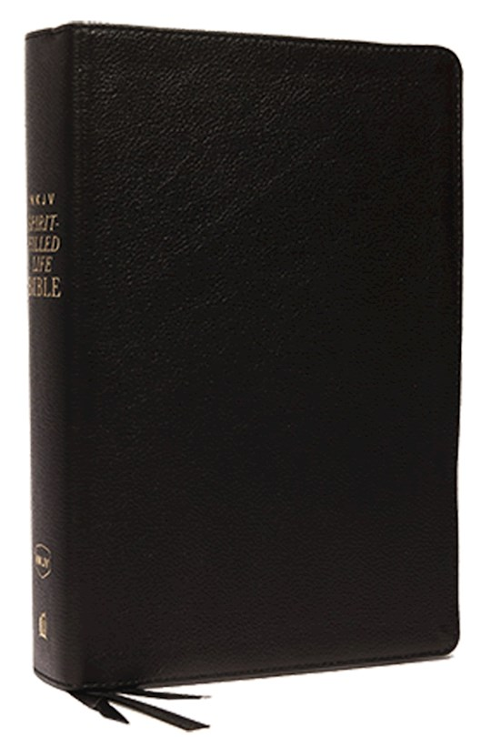 NKJV Spirit-Filled Life Bible (Third Edition) (Comfort Print)-Black Genuine Leather Indexed  | SHOPtheWORD