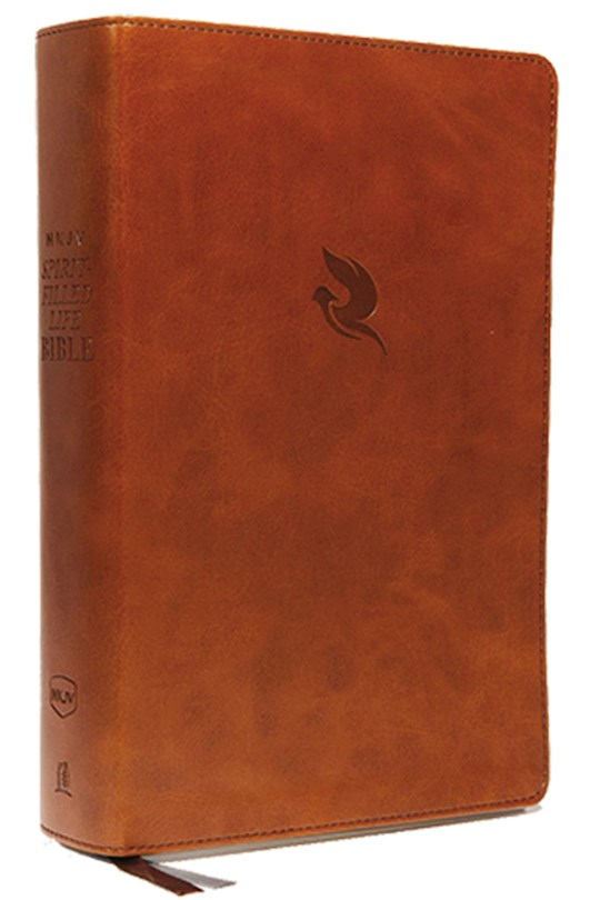 NKJV Spirit-Filled Life Bible (Third Edition) (Comfort Print)-Brown Leathersoft Indexed  | SHOPtheWORD