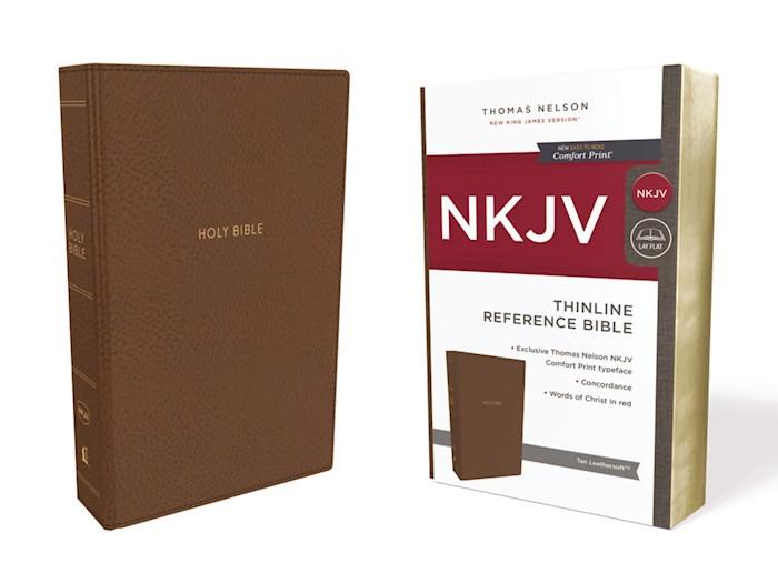 NKJV Thinline Reference Bible (Comfort Print)-Tan Leathersoft | SHOPtheWORD