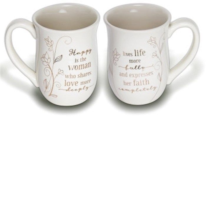 Mug-Happy Is The Woman | SHOPtheWORD