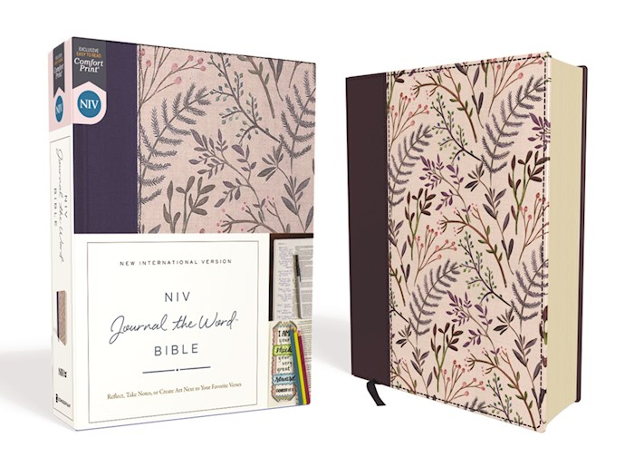 NIV Journal The Word Bible (Comfort Print)-Pink Floral Cloth Over Board  | SHOPtheWORD