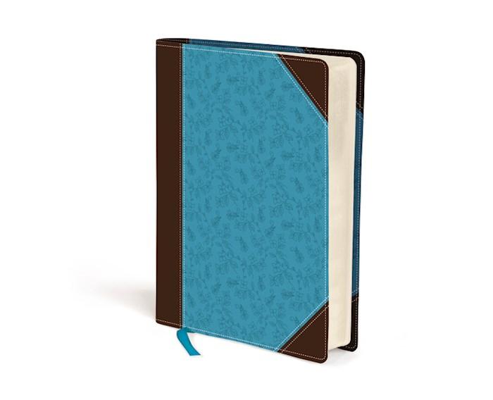 NIV Journal The Word Bible (Comfort Print)-Chocolate/Turquoise LeatherSoft    SHOPtheWORD