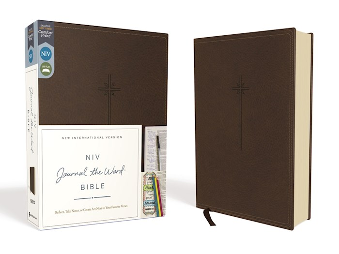 NIV Journal The Word Bible (Comfort Print)-Brown LeatherSoft  | SHOPtheWORD