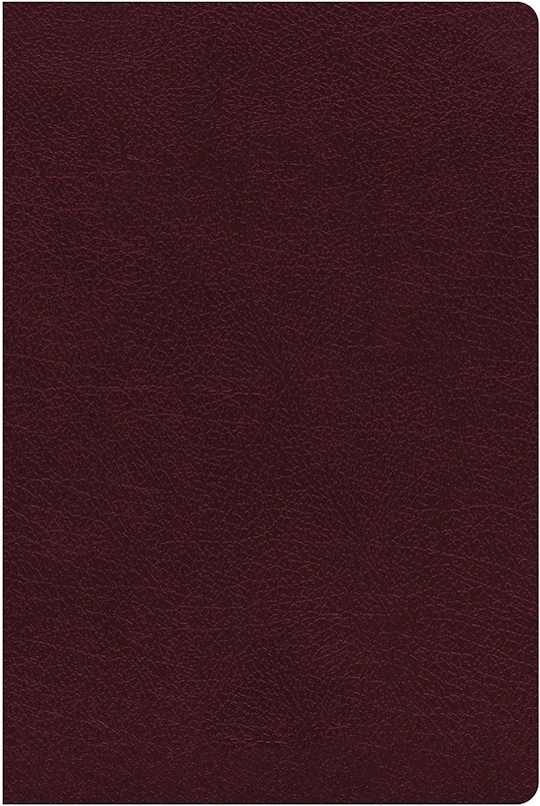 NIV Giant Print Reference Bible (Comfort Print)-Burgundy Bonded Leather Indexed | SHOPtheWORD