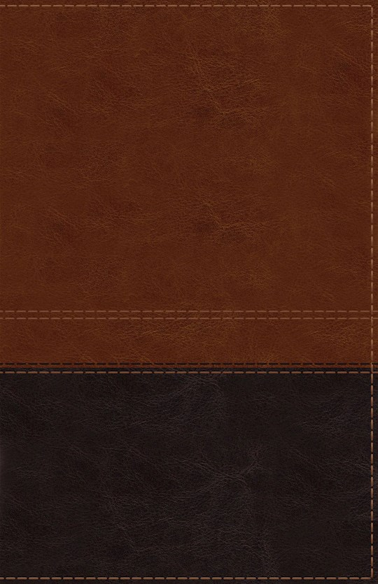 NIV Giant Print Reference Bible (Comfort Print)-Brown LeatherSoft Indexed | SHOPtheWORD