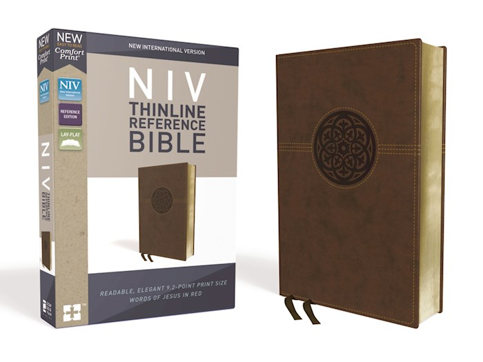 NIV Thinline Reference Bible (Comfort Print)-Brown LeatherSoft | SHOPtheWORD