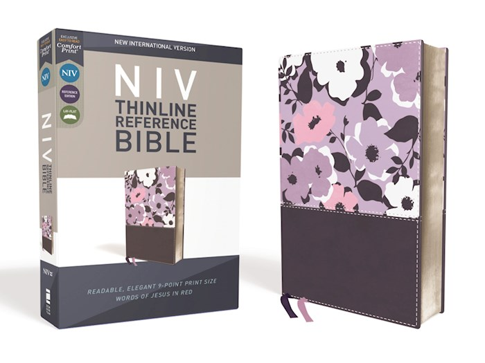 NIV Thinline Reference Bible (Comfort Print)-Dark Orchid/Grape LeatherSoft | SHOPtheWORD