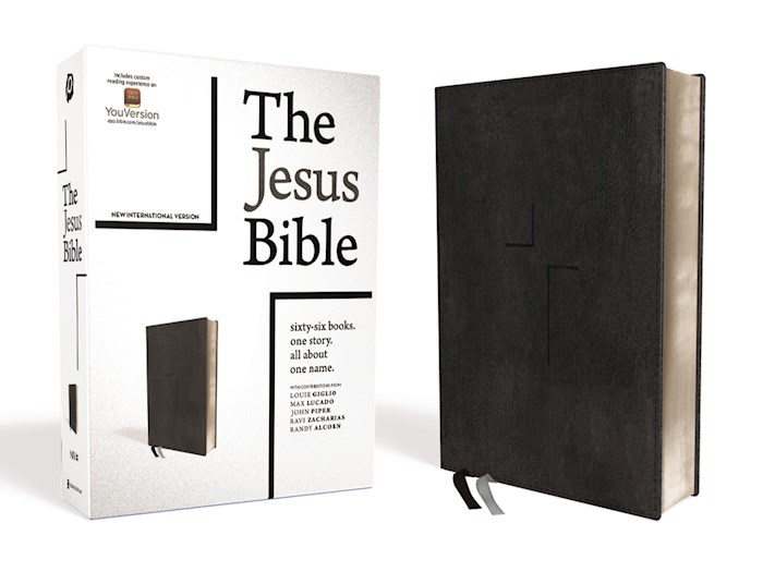 NIV The Jesus Bible (Comfort Print)-Black Leathersoft  | SHOPtheWORD