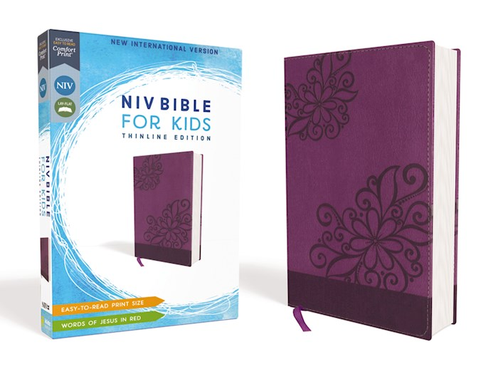 NIV Bible For Kids (Comfort Print)-Purple Leathersoft | SHOPtheWORD