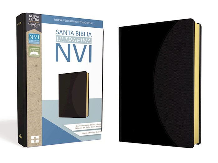 Span-NIV Ultrathin Bible (Comfort Print)-Black Leathersoft  | SHOPtheWORD