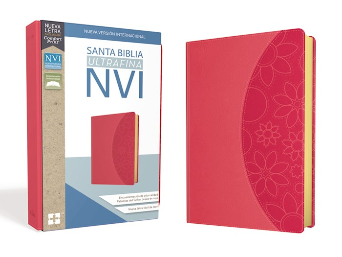 Span-NIV Ultrathin Bible (Comfort Print)-Pink Leathersoft  | SHOPtheWORD