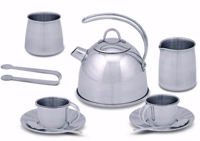 Pretend Play-Stainless Steel Tea Set (11 Pieces) (Ages 3+) | SHOPtheWORD