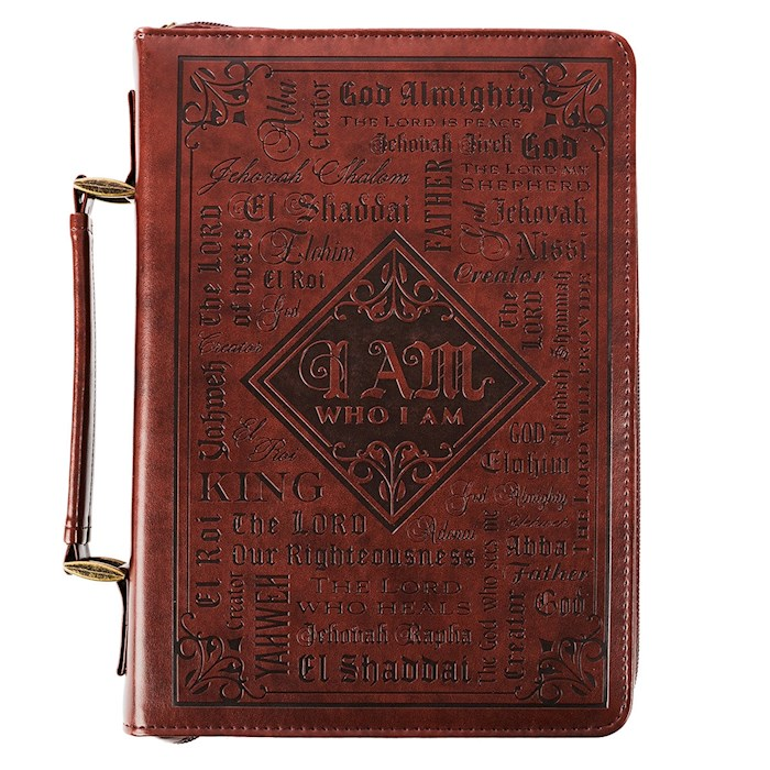 Bible Cover-Names of God-Large-LuxLeather-Brown | SHOPtheWORD