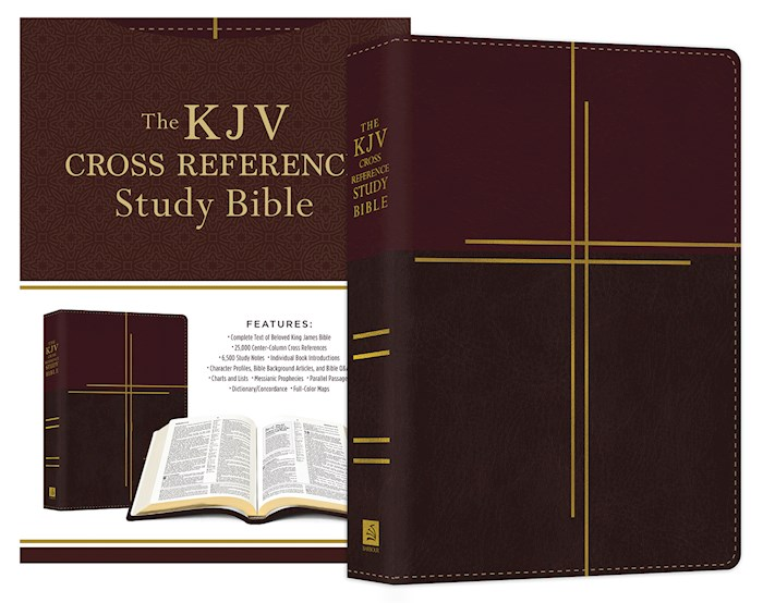 KJV Cross Reference Study Bible/Compact-Mahogany Cross Softcover | SHOPtheWORD