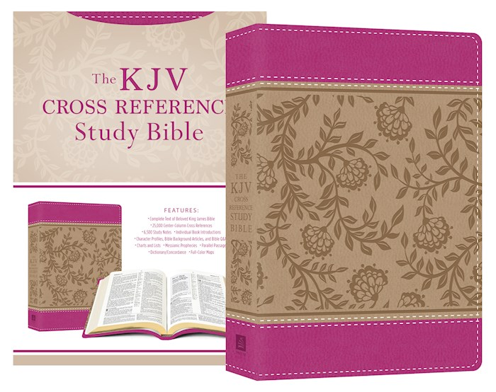 KJV Cross Reference Study Bible/Compact-Peony Blossoms DiCarta | SHOPtheWORD