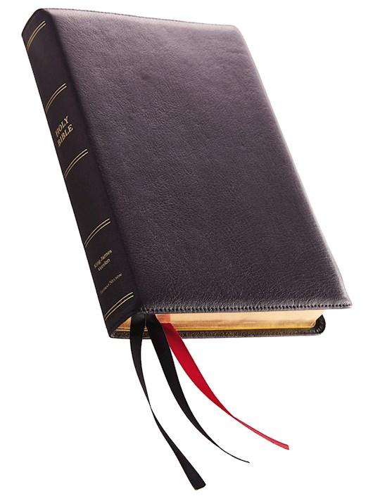 KJV Giant Print Reference Bible (Comfort Print)-Black Premium Leather | SHOPtheWORD